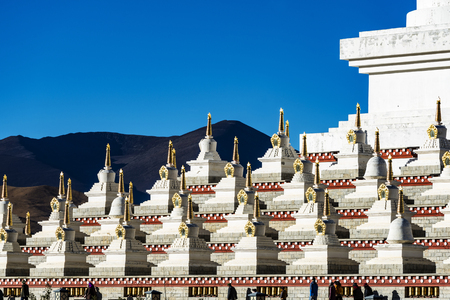 The white tower in Yading Nature Reserve in Daocheng County ,China