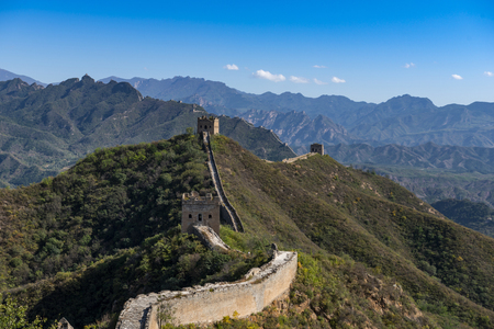 Beijing Great Wall in China, the majestic Great Wall, a symbol of China. Reklamní fotografie