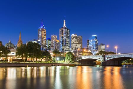 Melbourne CBD on the Northbank of the Yarra River