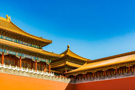 Beijing, China-September 22, 2018: ancient royal palaces of the Forbidden City ,the Forbidden City is the largest palace complex in the world. Located in the heart of Beijing, China 新闻类图片