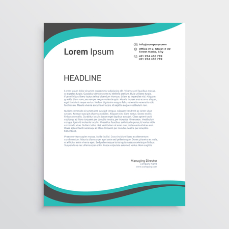 Wavy letterhead template Иллюстрация