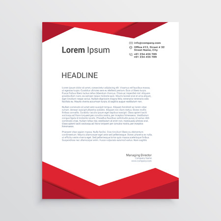Business letterhead design