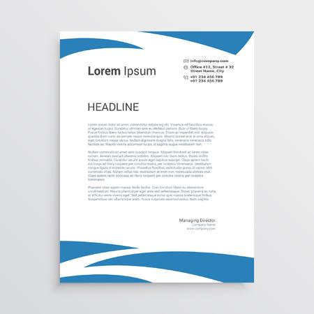 Wavy letterhead template Vectores