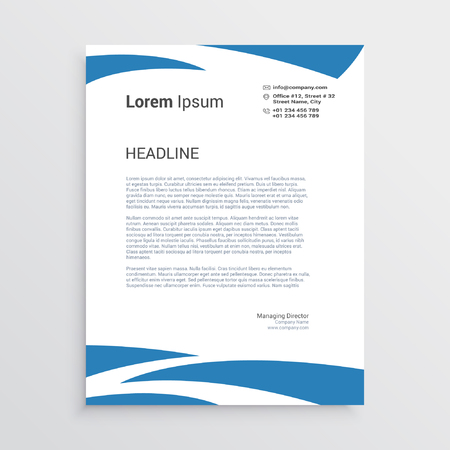 Wavy letterhead template Illustration
