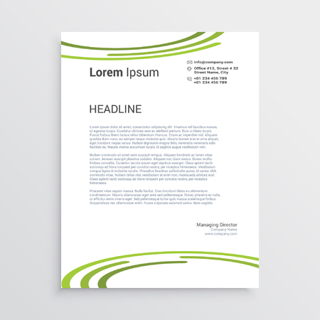 Business letter with Green circles