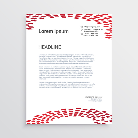 Corporate letterhead presentation