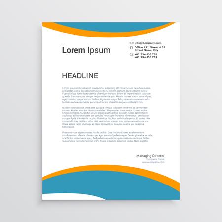 Corporate Letter Head template 向量圖像