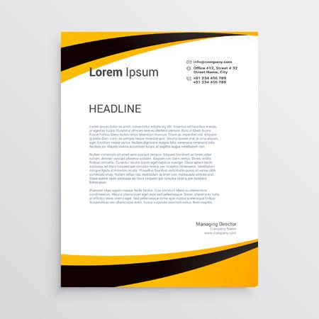 Corporate Letter Head template Vector illustration.