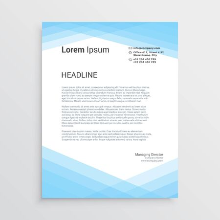 Blue Letterhead template design