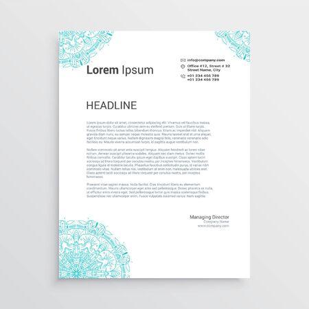 Business style letterhead design Vector Illustration