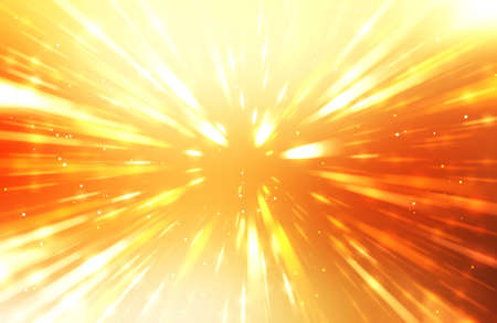 Glossy vibrant and colorful wallpaper. Light explosion star with glowing particles and lines. Beautiful abstract rays background.