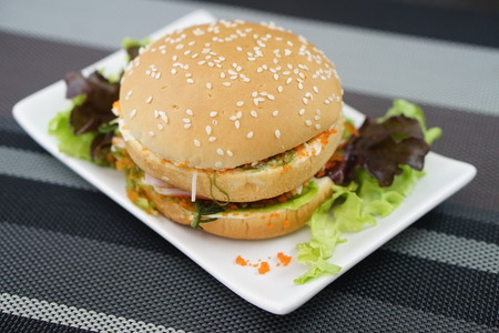 vegetarian hamburger: Crab and Alga Burger