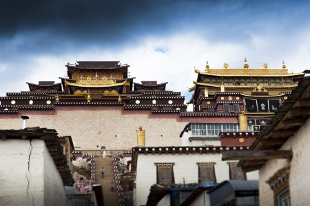 Building in Songzanlin Monastery Zhongdian, China  photo