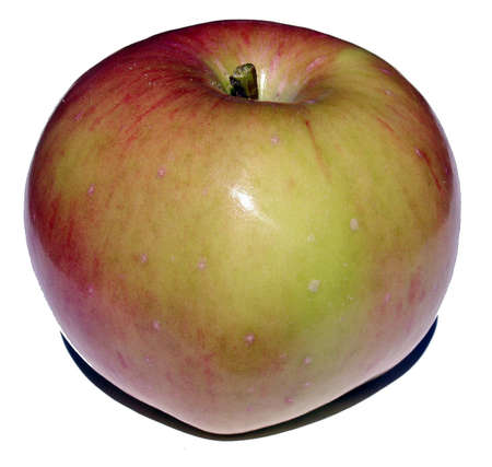 The big red apple close up for application in advertising and polygraphy photo