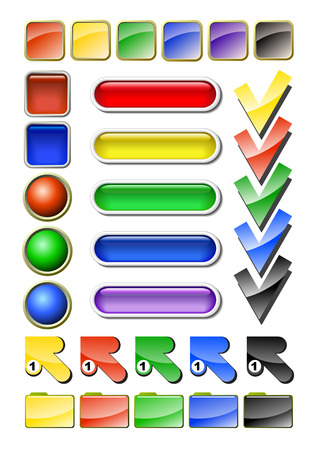 Design elements for registration a web of pages Stock Vector - 8077343