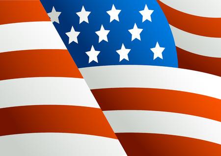 voting: Fragment einer Flagge von Amerika mit dem Bild von Sternen und rot-wei�e Streifen  Illustration