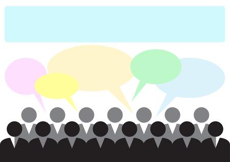 business discussion: Plantilla de una ilustraci�n de una inserci�n de texto