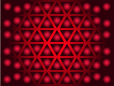 Background from triangles in red tones Vector