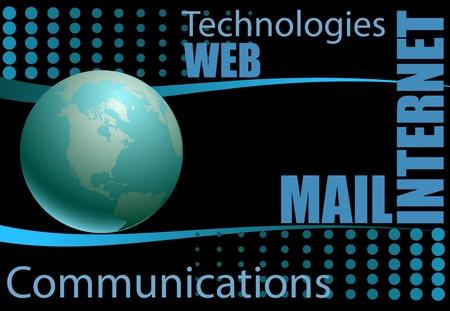 virtual space: Concetto di Internet delle aziende globali da una serie di concetti