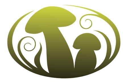 toadstool: Vignetta con funghi per applicazione nel libro di disegno e registrazione