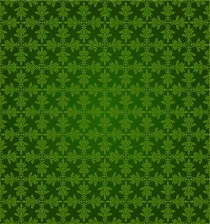 Pattern from oak leaves in a green tonality Vector