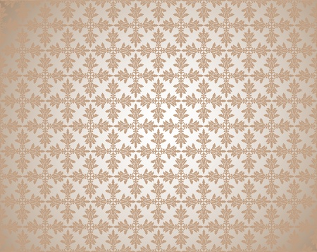 foglie di quercia: Pattern da quercia lascia in una tonalit� di grigia Vettoriali
