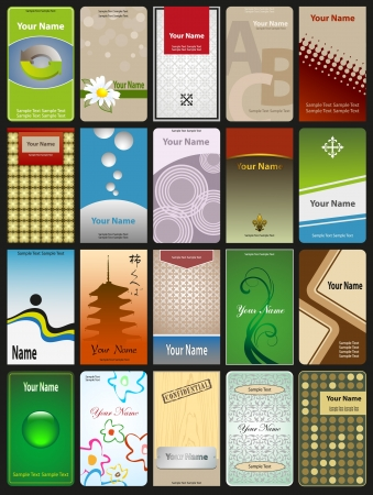 20 vertical cards in different styles  Vector