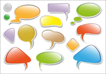 Glossy multicolored talk bubbles  Stock Vector - 9330859