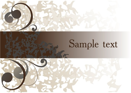 Abstract background  with decorative curls Vector