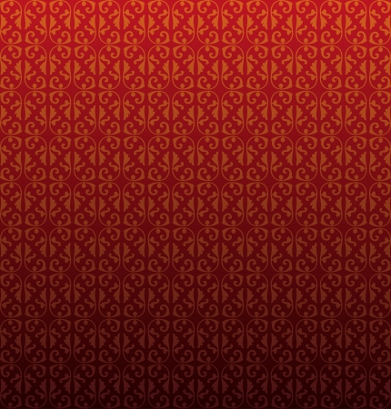 Pattern from decorative elements in a dark red tonality Illustration