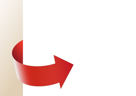Background for a report of information with a red arrow Vector