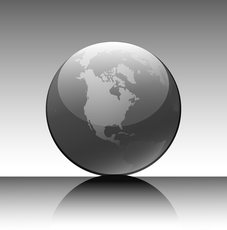 Globe in a grey tonality for design Vector