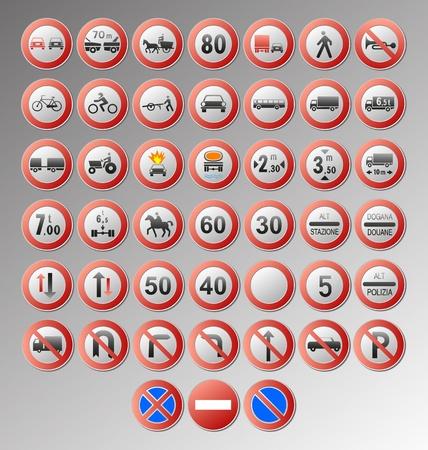 se�ales de seguridad: Prohibir las se�ales de tr�fico para el dise�o Vectores