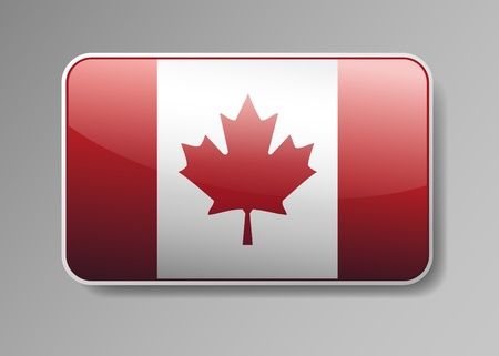 canada flag: Flag of Canada in the form of an icon for a web of pages