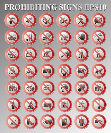 prohibido: Prohibici�n de se�ales