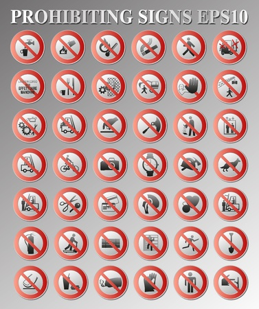 Prohibiting signs Stock Vector - 9599270