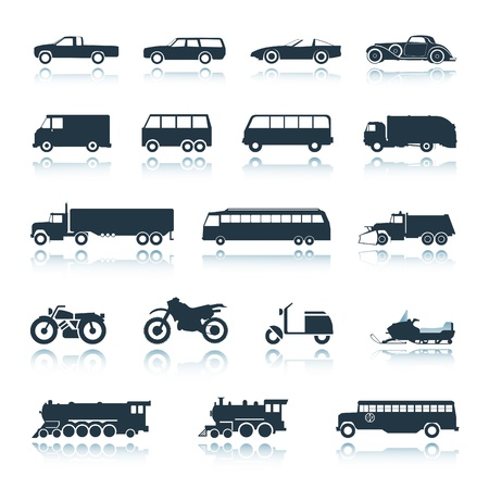 cargo train: Icon Vehicles  Illustration