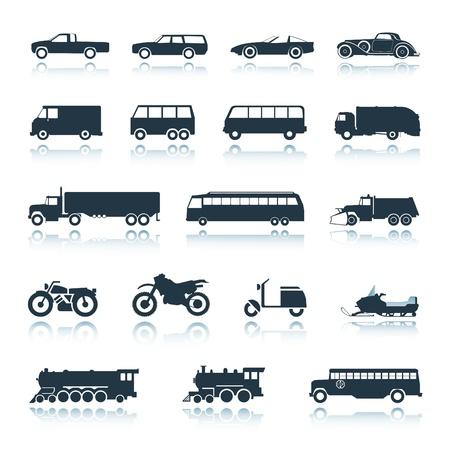 Vehículos de icono  Ilustración de vector