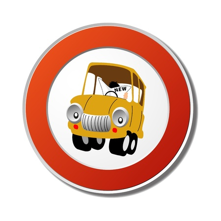 Do not read in the car sign Stock Vector - 9599272