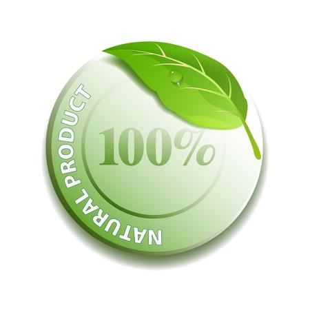 Natural product icon  Ilustração