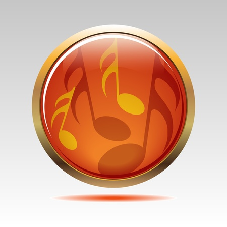 Musical symbols icon Vector