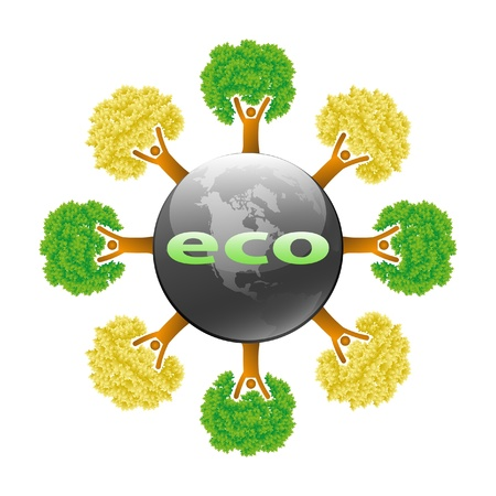 Ecological symbols-concept design vector Vector