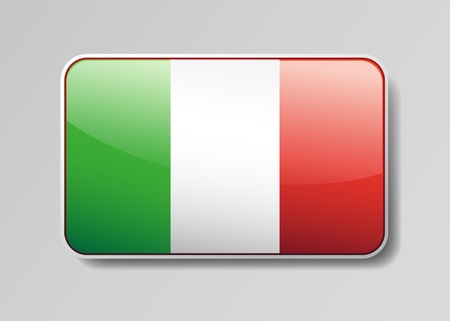 Flag of Italy in the form of an icon for a web of pages Vector
