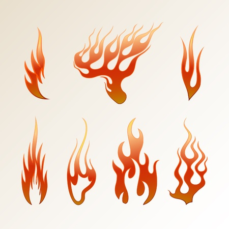 Red flame on a light background vector