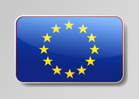 European Union flag  in the form of an icon for a web of pages Vector