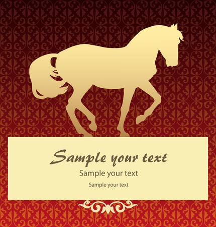 Patten background with horse vector Stock Vector - 9865914