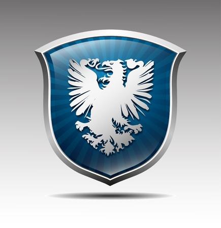 wappen: Waffen in ein Adler