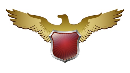 Arms in an eagle Vector