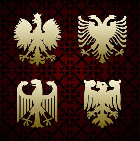 patriotic eagle: Heraldic symbols of an eagle vector