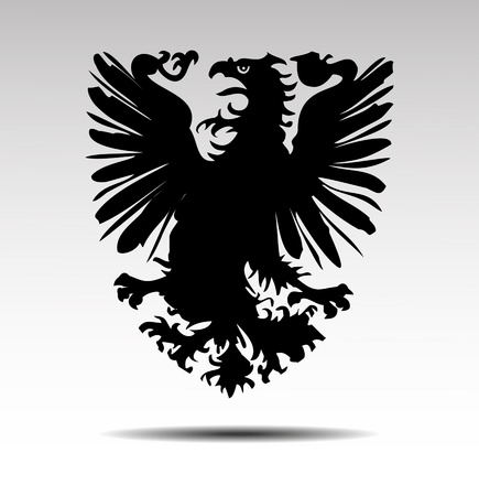 Heraldic symbols of an eagle vector Vector